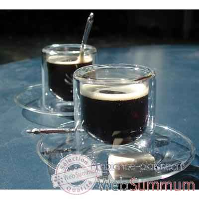 2 Tasses a cafe 8 cl avec soucoupe SiloDesign7 -SD7s
