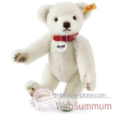 Ours teddy classique, blanc STEIFF -027000