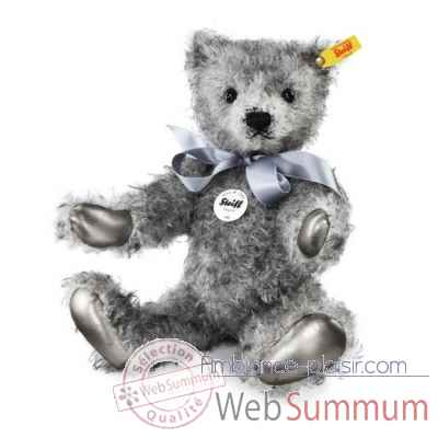Ours teddy classique olly, gris chine STEIFF -000409