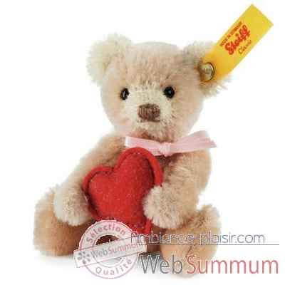 Ours teddy miniature coeur, rose STEIFF -028915