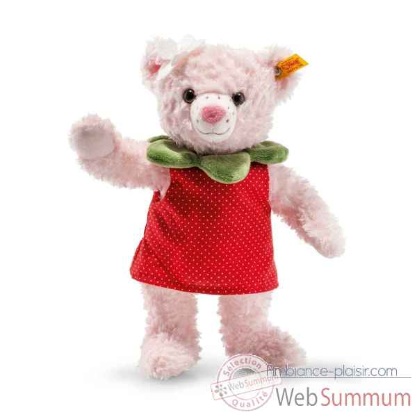 Peluche ours picnic friends rose strawbeary steiff -113628