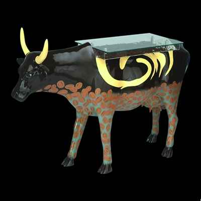 Vache Coffee Cream Table Cow Art in the City - 80902