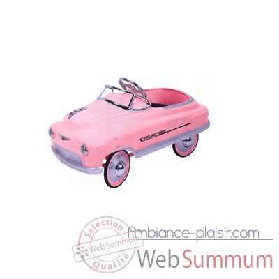 Voiture a pedales Comet rose - 12610b